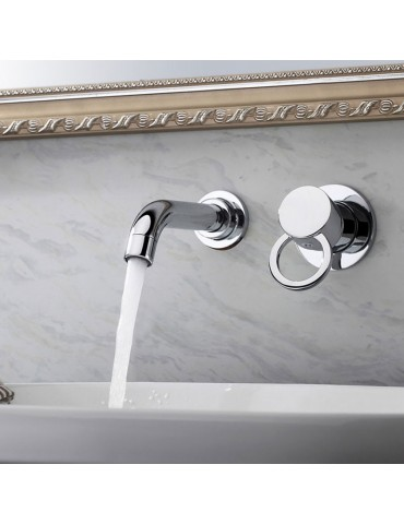 Robinet de lavabo mural