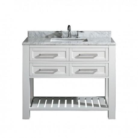 "Single basin vanity. 42"""