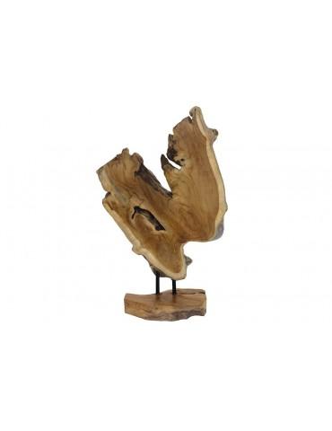 Sculpture en teck