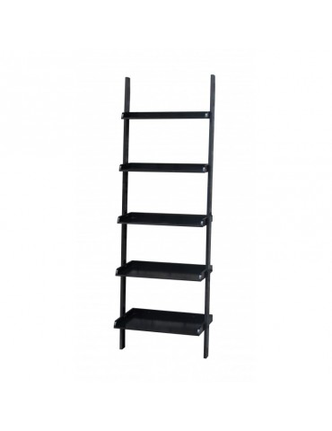 Tier black mdf wall shelf