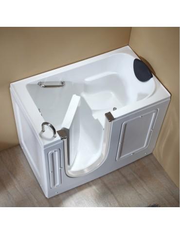 Free standing bath tub with door