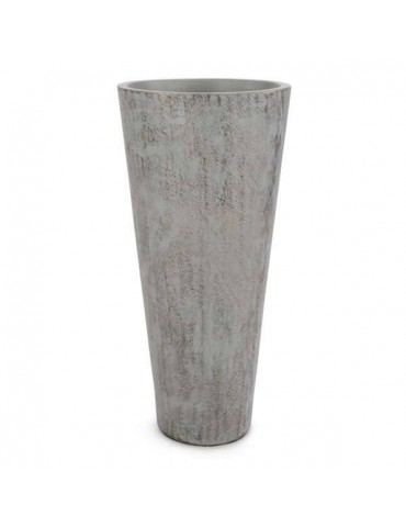 Large vase with grey and gold pattern