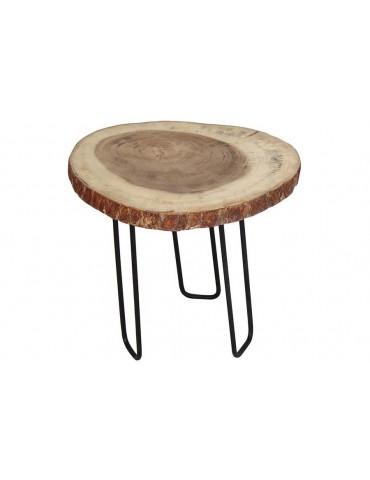 Table d'appoint tronc de suar