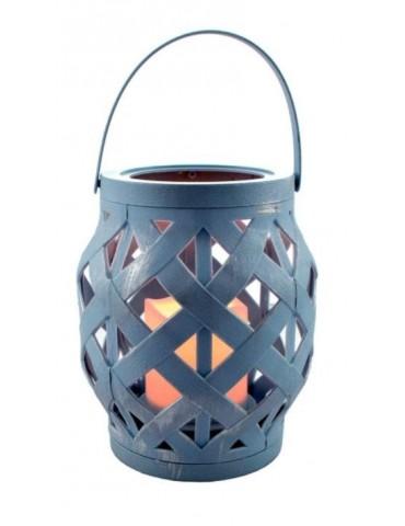 Lantern antic blue