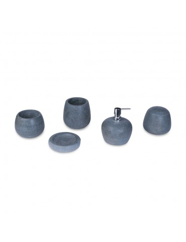 Bathroom set river stone accessories
