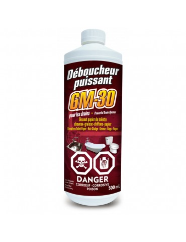 Powerful drain cleaner for drains