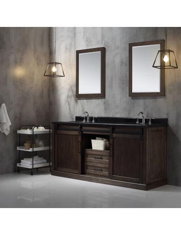 "Double basin vanity. 75"""